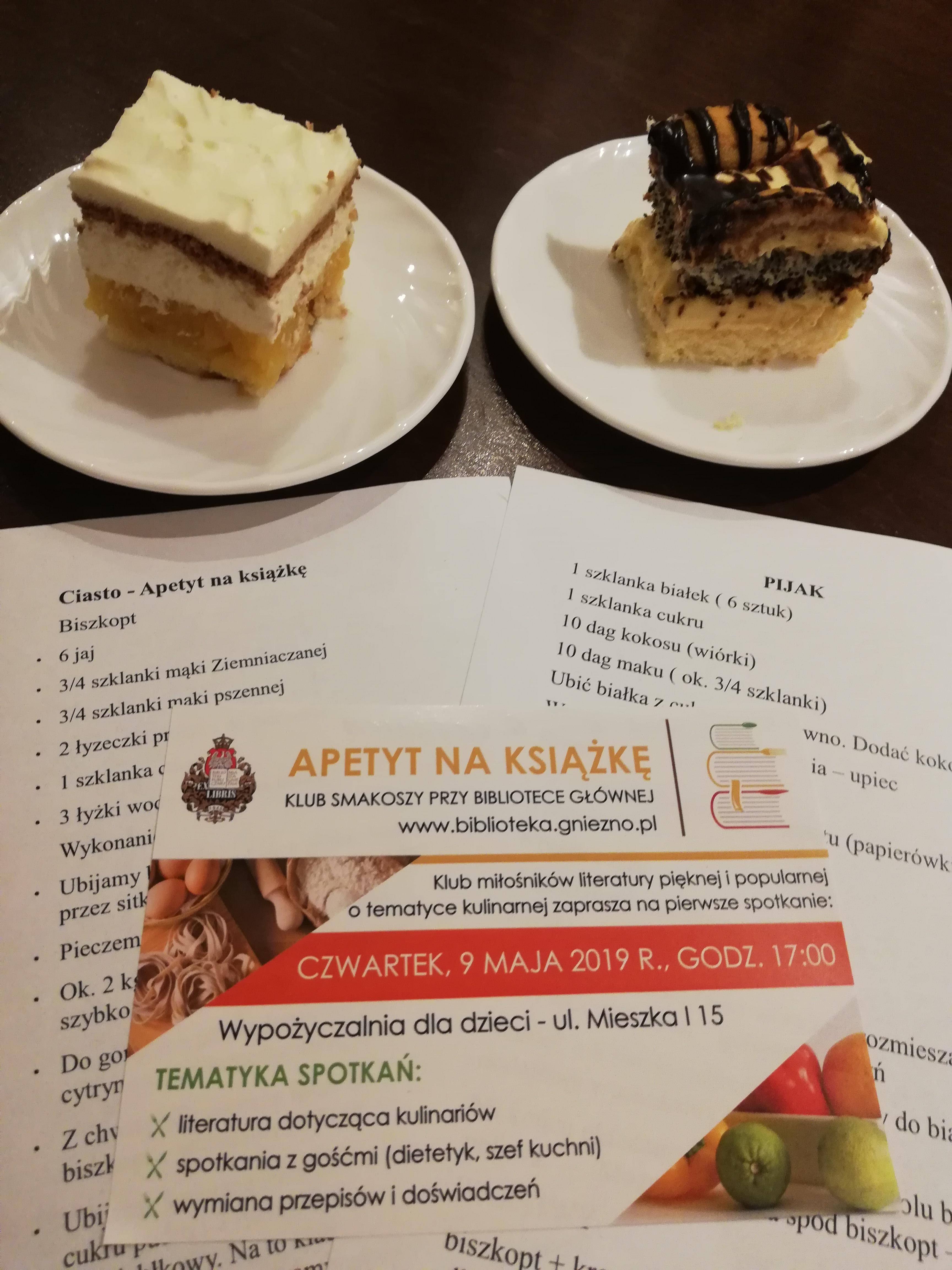 """Klub Smakoszy Kulinarnych """"Apetyt na książkę"""" otwarty"""