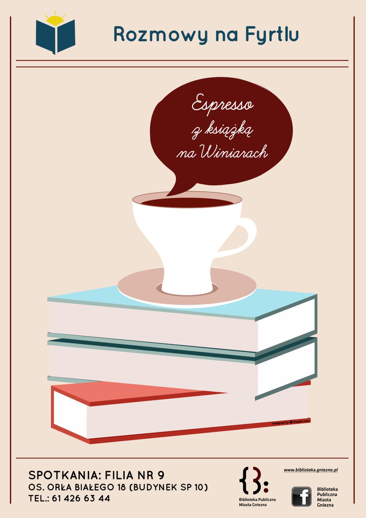 """""""Espresso z książką na Winiarach"""" gwarowo"""
