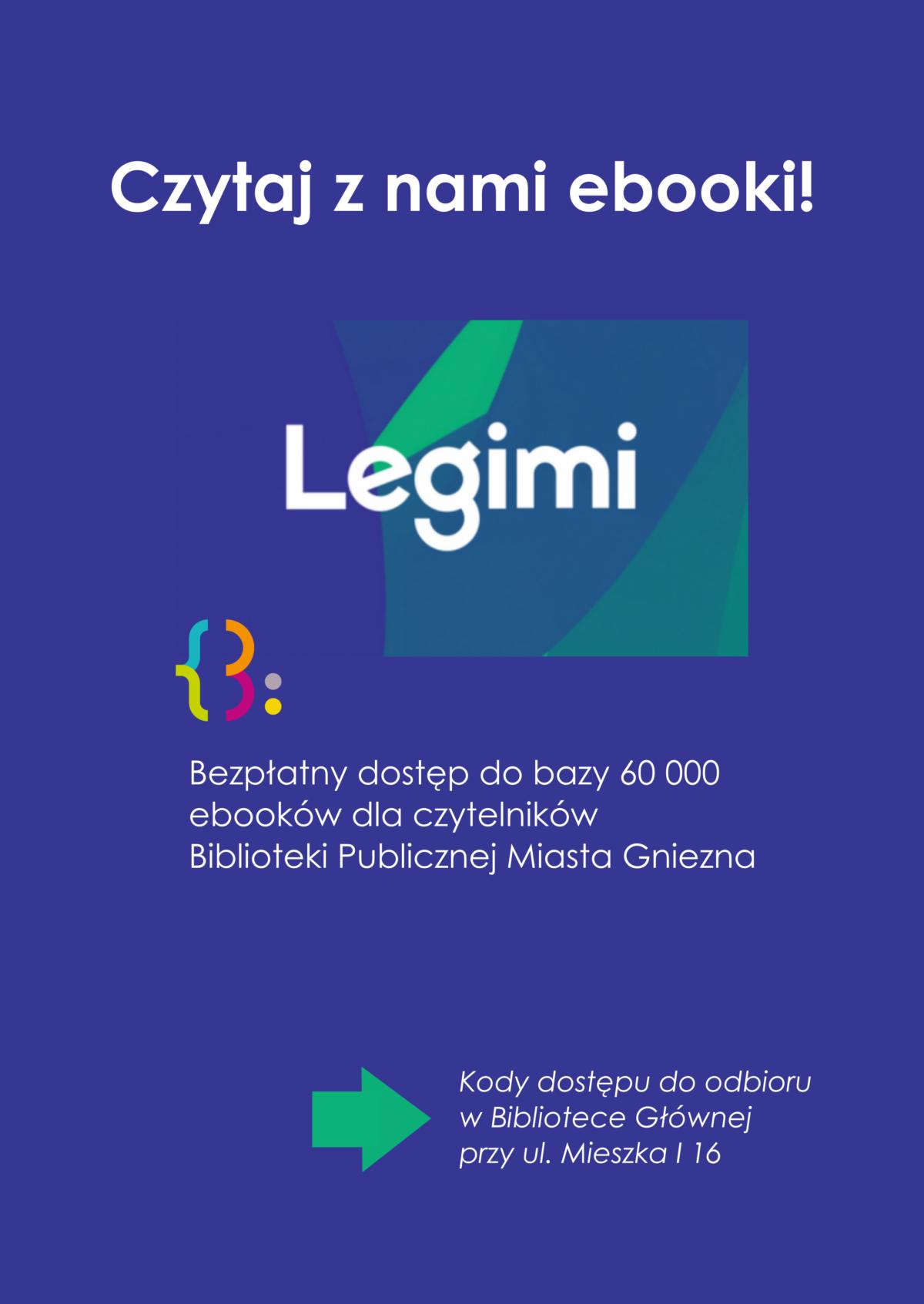 Czytaj ebooki z Biblioteką Publiczną Miasta Gniezna i Legimi