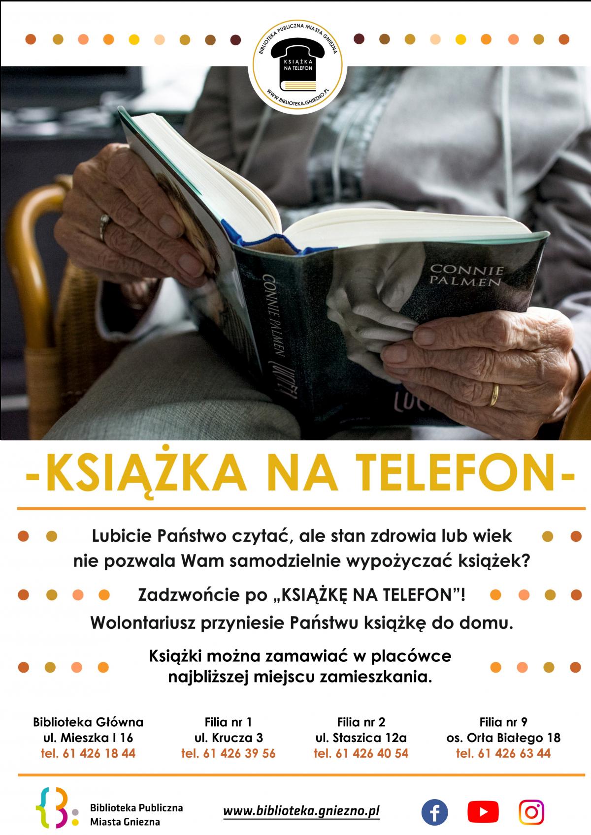 """Usługa """"Książka na telefon"""" już na stałe zagościła do oferty działań Biblioteki"""