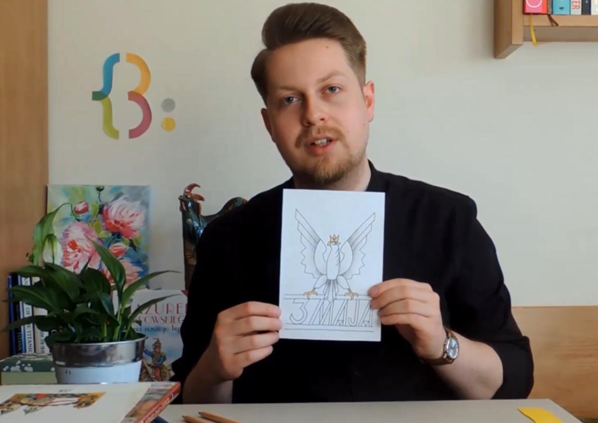 Bibliotecznym okiem Igora: Rysunek inspirowany sztuką dwudziestolecia międzywojennego