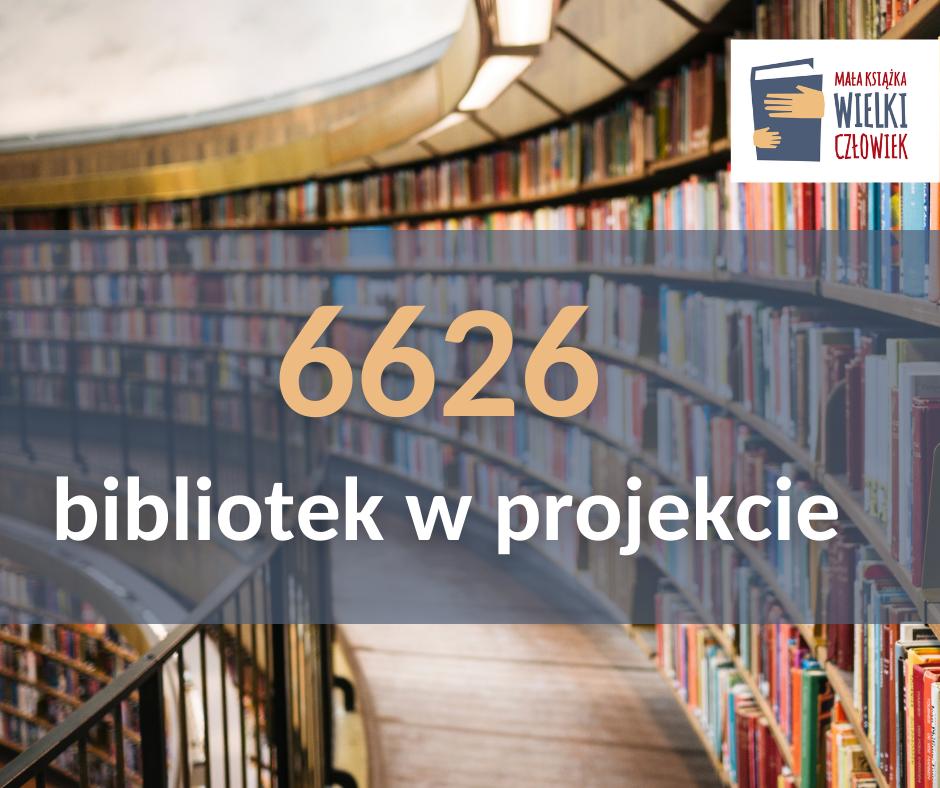 """6626 bibliotek w projekcie """"Mała książka – wielki człowiek"""""""