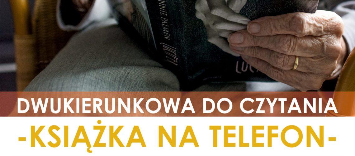 plakat książka na telefon