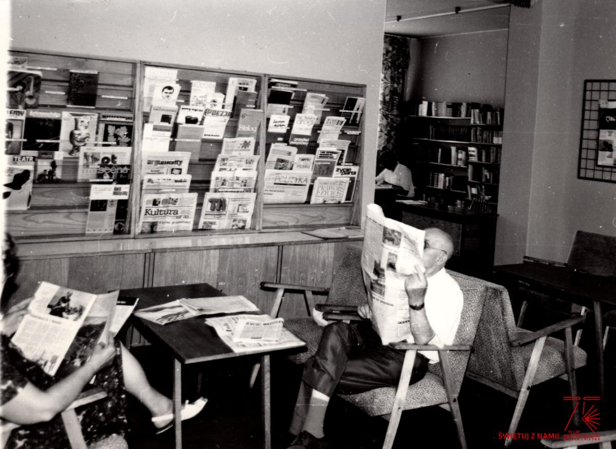 Biblioteczny kącik jubileuszowy – Czytelnia